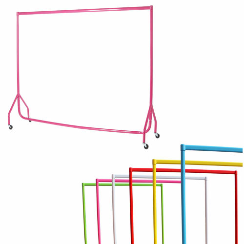 6ft Coloured Garment Rail