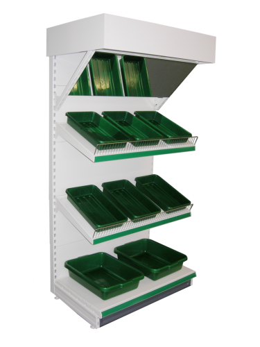 Tegometall Fruit & Veg Unit - Full 1250mm Add-on Bay
