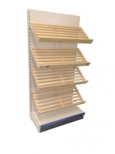 Tegometall c/w Pine Bread Shelves 1000mm Add-on Bay