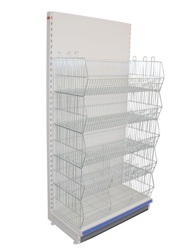 Tegometall Shelving with crisp baskets 1000mm Add-on Bay