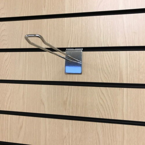 "Slatwall Euro Hook 250mm (10"") - Chrome"