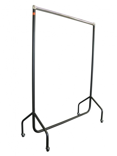 Garment Rail - Blk/Chrome