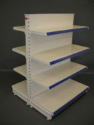 Tegometall shelving components, feet, backpanels, shelves, brackets, etc
